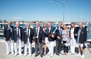 Largest number of Staff Commodore Present Hunting Harbor Yacht Club